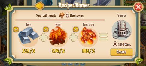 Golden Frontier Burner Recipe