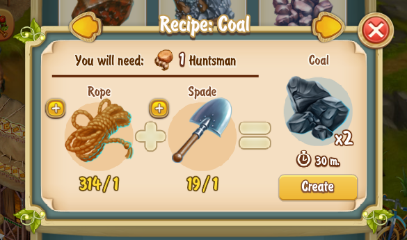 Golden Frontier Coal Recipe x2