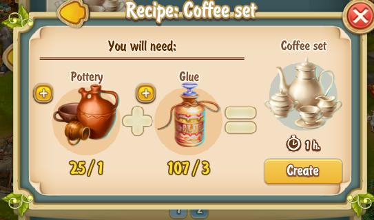 Golden Frontier Coffee Set Recipe