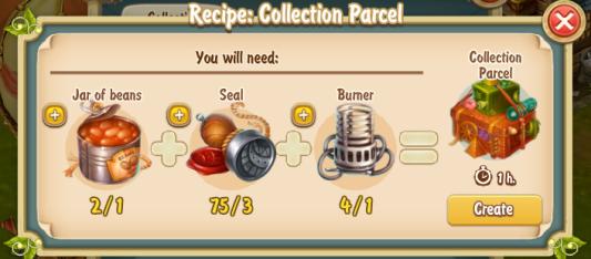 Golden Frontier Collection Parcel Recipe