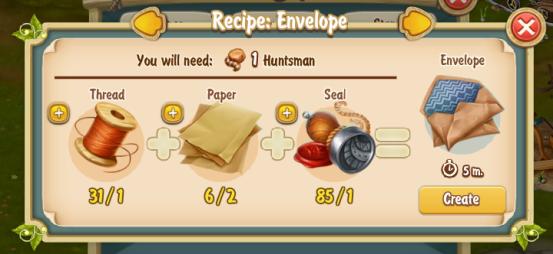 Golden Frontier Envelope Recipe