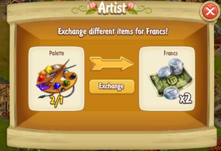 Golden Frontier Exchange Palette