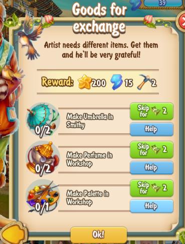 Golden Frontier Goods For Exchange Quest