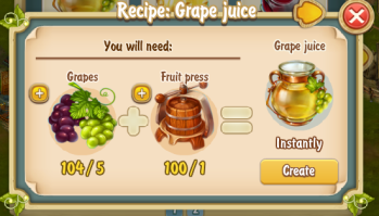 Golden Frontier Grape Juice Recipe