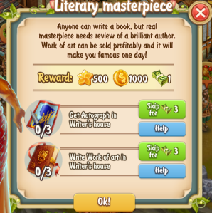 Golden Frontier Literary Masterpiece Quest