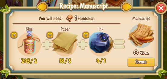 Golden Frontier Manuscript Recipe