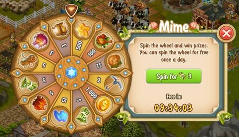 Golden Frontier Mime Reward