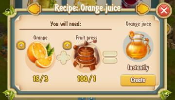 Golden Frontier Orange Juice Recipe