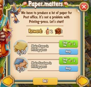 Golden Frontier Paper Matters Quest