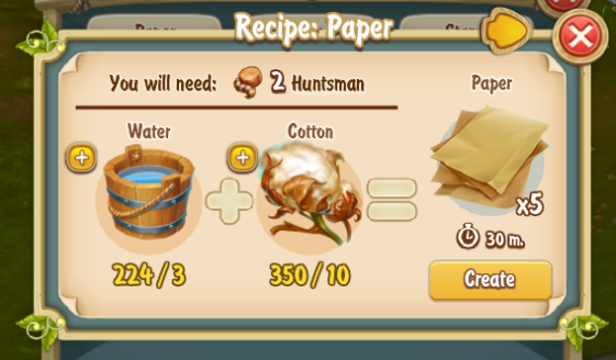 Golden Frontier Paper Recipe