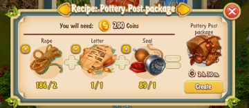 Golden Frontier Pottery Post Package