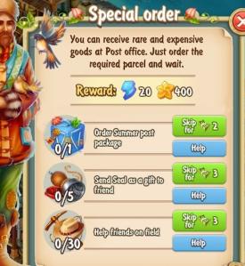 Golden Frontier Special Order Quest