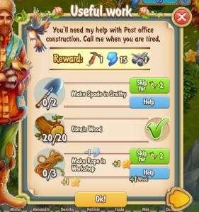 Golden Frontier Useful Work Quest