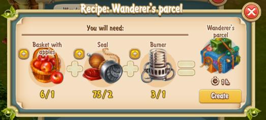 Golden Frontier Wanderer's Parcel Recipe