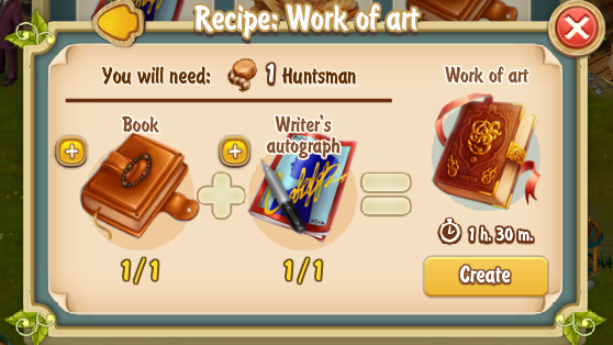 Golden Frontier Work of Art Recipe