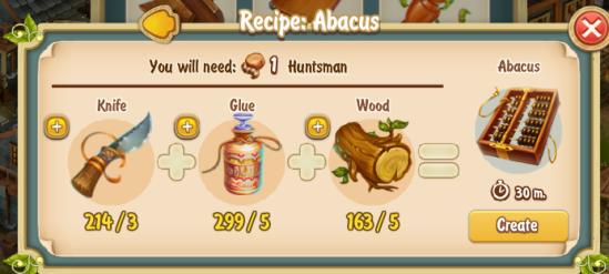 Golden Frontier Abacus Recipe