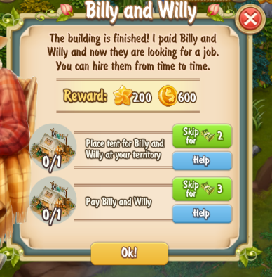 Golden Frontier Billy And Willy Quest