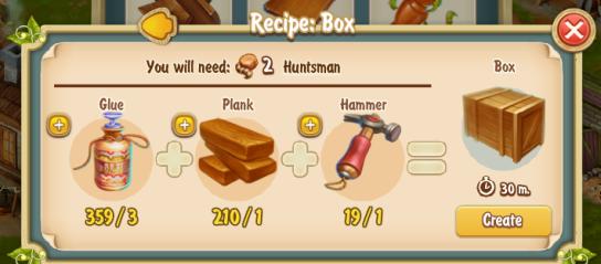 Golden Frontier Box Recipe