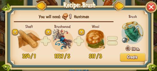 Golden Frontier Brush Recipe