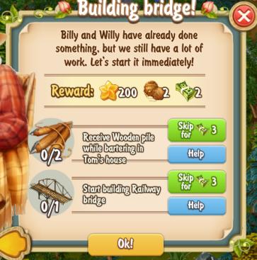 Golden Frontier Building Bridge Quest