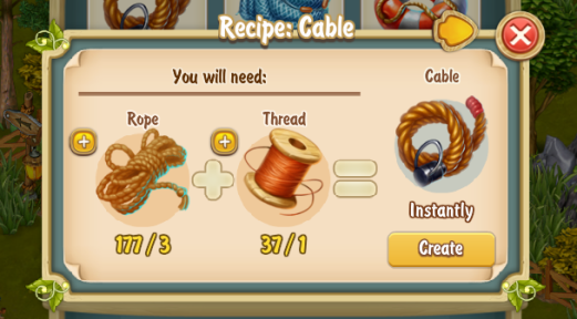 Golden Frontier Cable Recipe