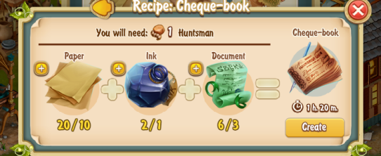 Golden Frontier Cheque Book Recipe