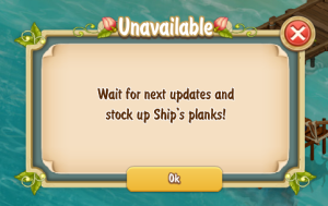 Golden Frontier Clipper Unavailable