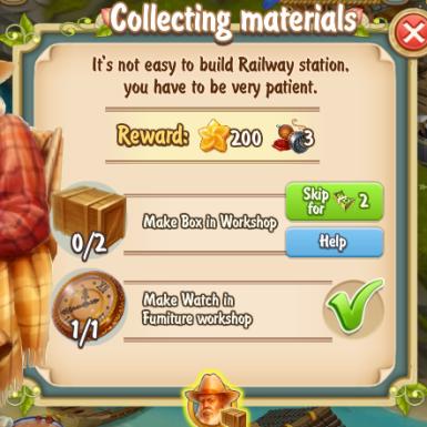 Golden Frontier Collecting Materials Quest