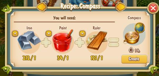 Golden Frontier Compass Recipe