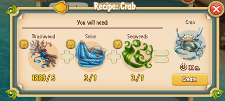 Golden Frontier Crab Recipe
