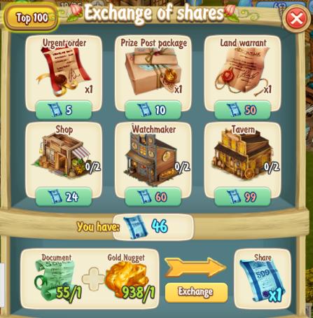 Golden Frontier Exchanging Shares