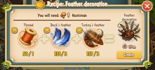 Golden Frontier Feather Decoration Recipe