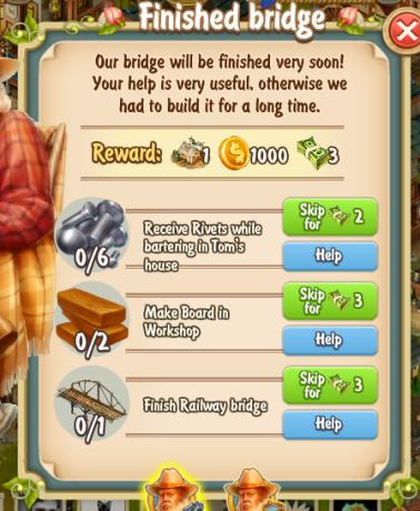 Golden Frontier Finished Bridge Quest