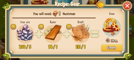 Golden Frontier Gear Recipe