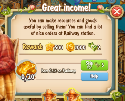 Golden Frontier Great Income Quest