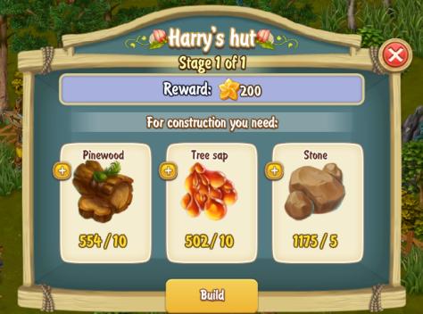 Golden Frontier Harry's Hut Stage 1
