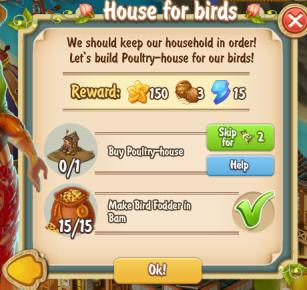 Golden Frontier House for Birds Quest