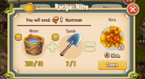 Golden Frontier Nitre Recipe