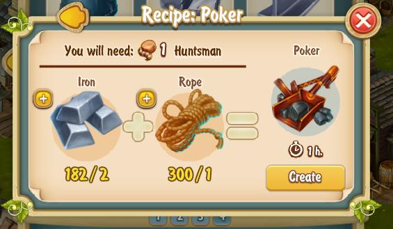 Golden Frontier Poker Recipe