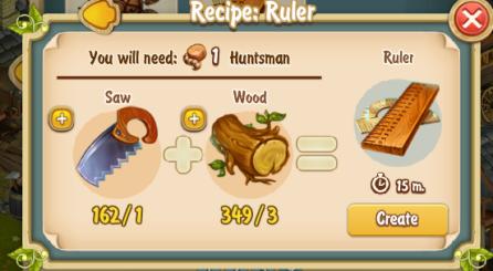 Golden Frontier Ruler Recipe