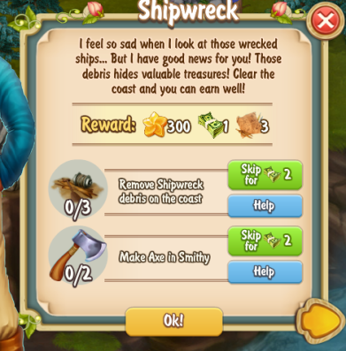 Golden Frontier Shipwreck Quest