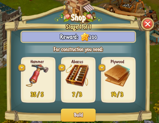 Golden Frontier Shop Stage 1