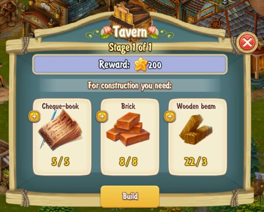 Golden Frontier Tavern Stage 1