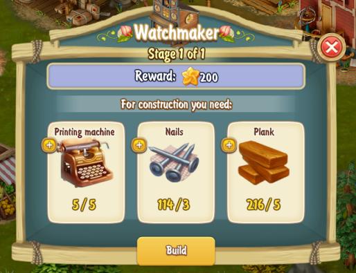 Golden Frontier Watchmaker Stage 1