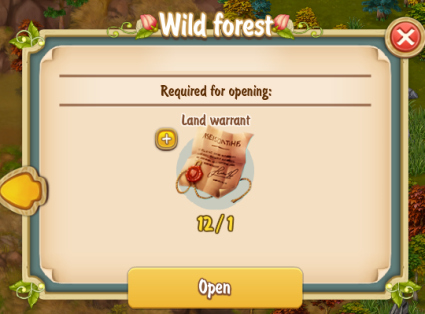 Golden Frontier Wild Forest Unlock with Land Warrant