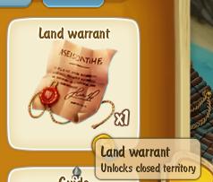Golden Frontier Land Warrant