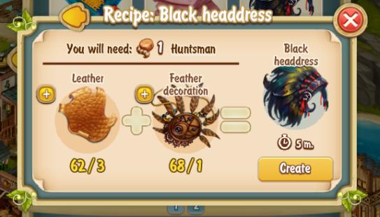 Golden Frontier Black Head Dress Recipe