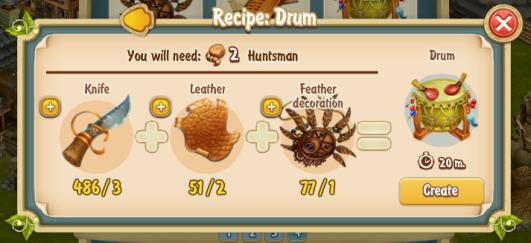 Golden Frontier Drum Recipe