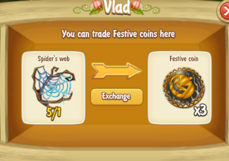 Golden Frontier Exchange Spider Web