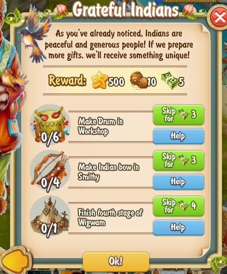 Golden Frontier Grateful Indians Quest